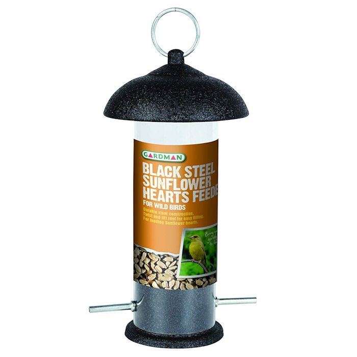 Gardman Black Steel Sunflower Hearts Feeder