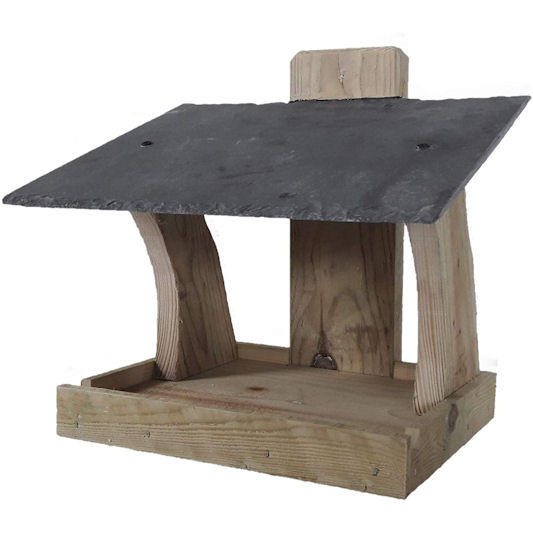 Blackdown Woodcrafts Slate Roof Mounted Bird Table