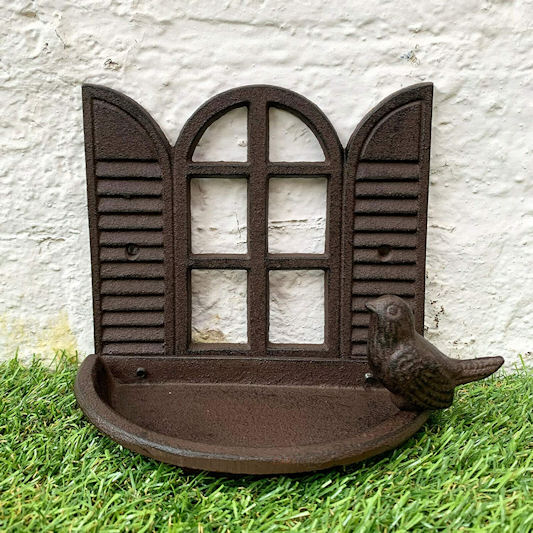 Darthome Cast Iron Shutter Window Bird Bath