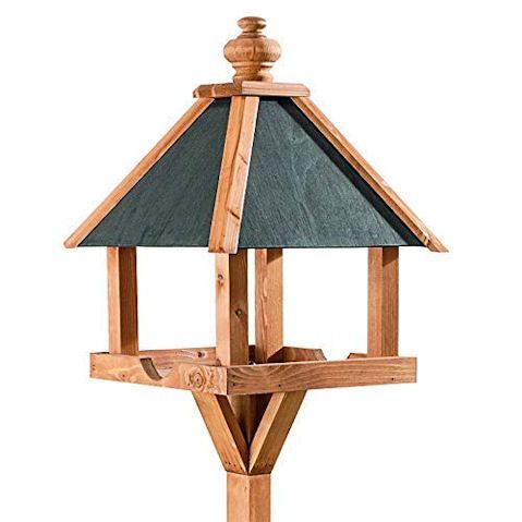 Home & Roost Kinloch Bird Table with Slate Roof