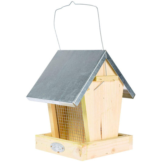 Homescapes Wooden Nut & Seed Feeder