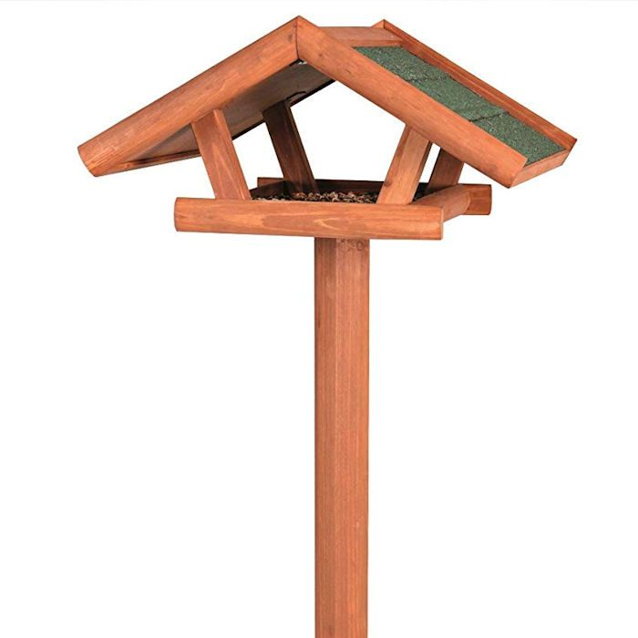 Trixie bird table with overhanging roof