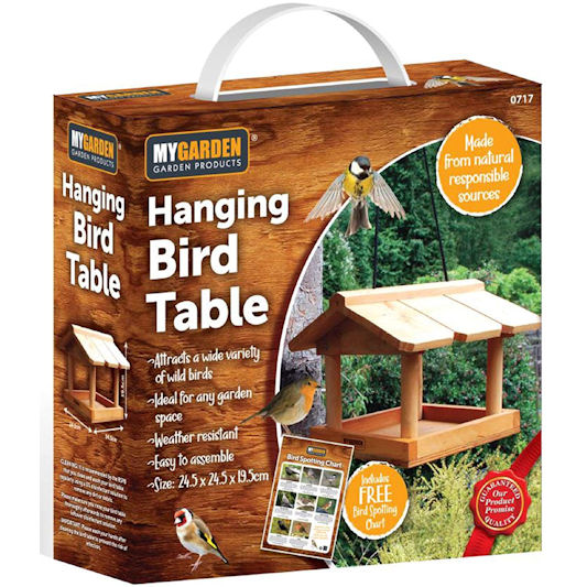 MyGarden Garden Products Hanging Bird Table