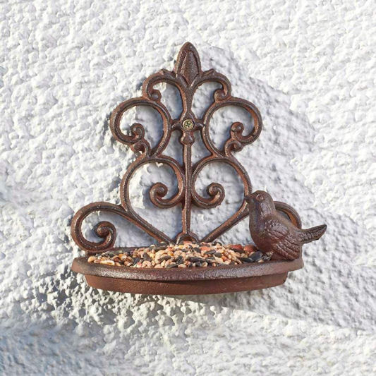 Nature's Market Cast Iron Wall Mounted Bird Bath
