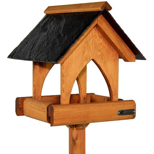 Riverside Woodcraft Gothic Slate Roof Bird Table