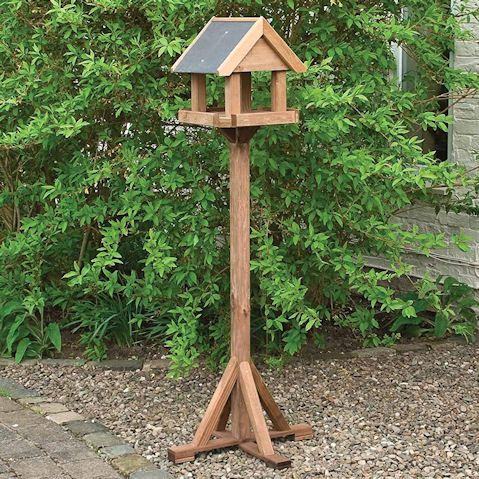 Top 10 Bird Tables With Slate Roof On A Wooden Stand