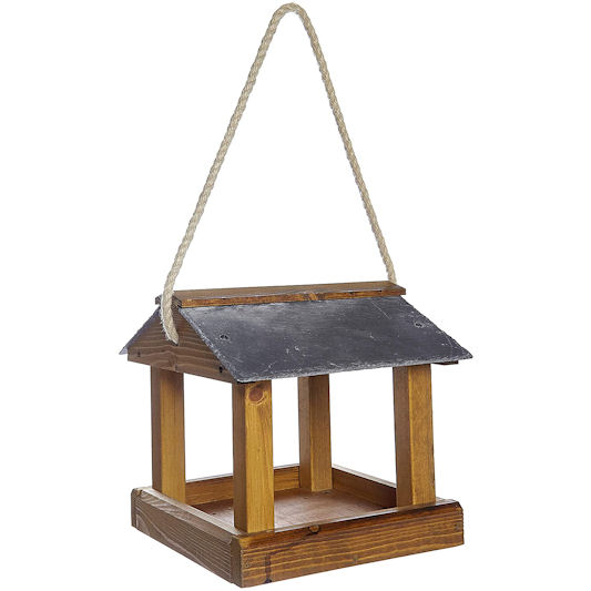 Ruddings Wood Slate Roof Hanging Bird Table