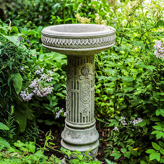 Discount Garden Statues Sunflower Stone Bird Bath