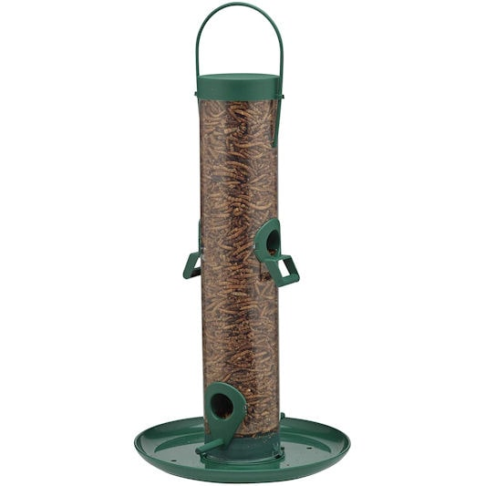 Supa 4-Port Hanging Mealworm Feeder with Tray