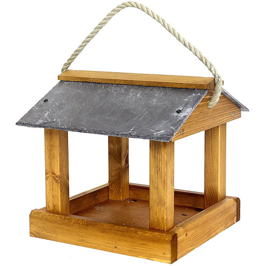 Tom Chambers: Slate Roof Hanging Bird Table